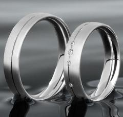 Christian Bauer Platinum - A color - Wedding Rings 950 Platin, seidenmatt,
