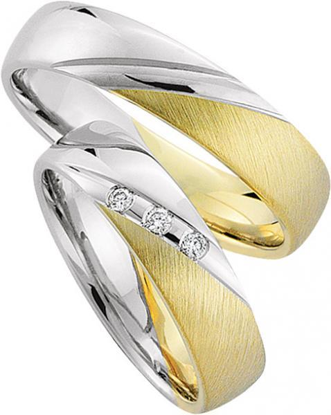 Eheringe weißgold gelbgold  Rubin Trauringe 2894