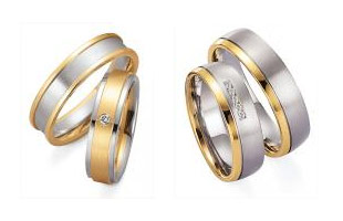 Gray gold yellow gold Marryring