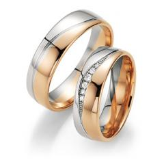 Fischer White gold apricot gold Marryring