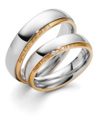 August Gerstner White gold rose gold Marryring