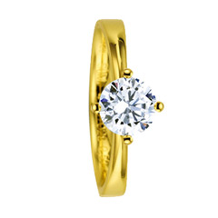 585 Gelbgold, poliert,  Saint Maurice Engagement rings gold