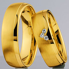 585 Gelbgold, seidenmatt /poliert,  Nowotny-Collection Ruesch Yellow gold
