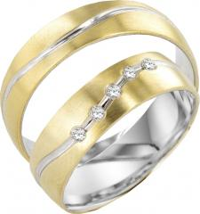 Simon & Söhne White gold yellow gold Marryring