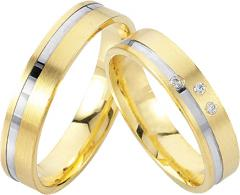 333 Weissgold , seidenmatt / poliert,  Rubin Cheap wedding Rings