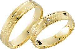 333 Gelbgold, seidenmatt / poliert,  Rubin Cheap wedding Rings
