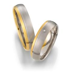 Weidner Gray gold yellow gold Marryring