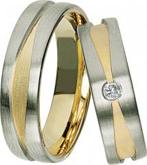 Rubin Gray gold yellow gold Marryring