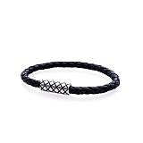 MoRes Flechtlederarmband NAUTILUS BLACK 026.5S.DXS