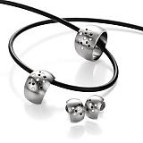 deluxx Ring Globe mit schwarzen und weissen Brillanten 069.23S02