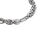 Ellipses chain wide stainless steel K138
