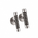 Cufflinks stainless steel rubber M08