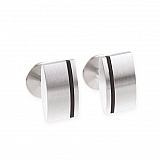 Cufflinks stainless steel rubber M10
