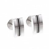 Cufflinks stainless steel rubber M12