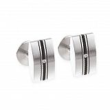 Cufflinks Stainless Steel Diamond Rubber M13