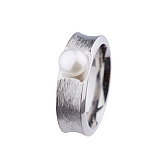 Ring R371.7 Stahl Button-Perle